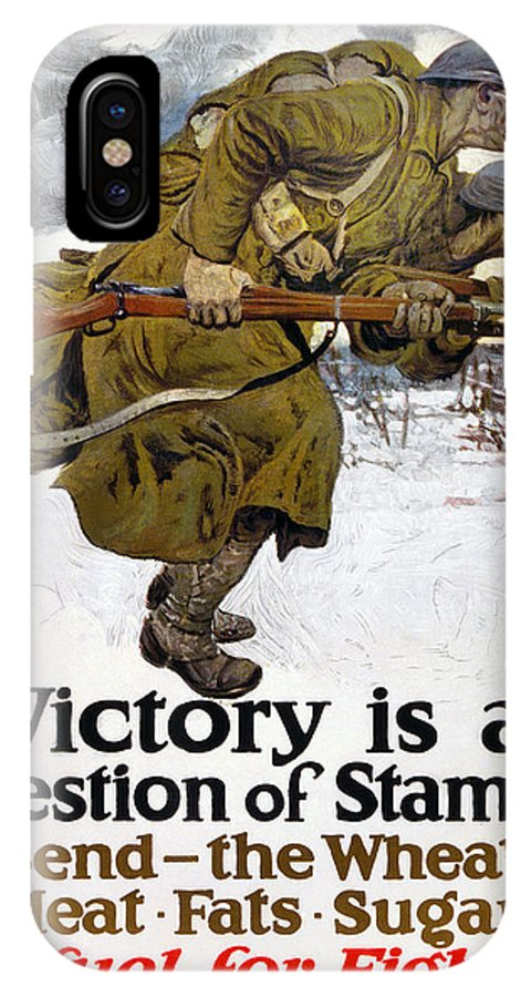 1917 IPhone X Case featuring the photograph World War I: Poster, 1917 by Granger