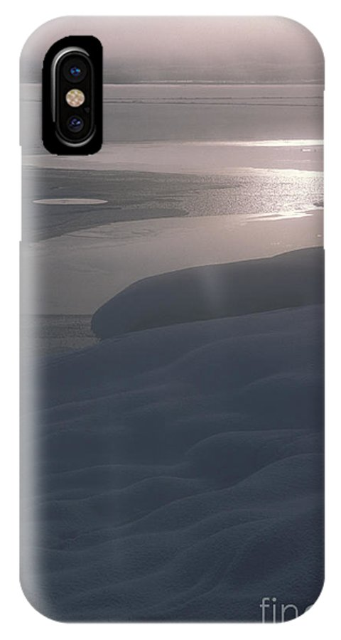 Landscape IPhone X Case featuring the photograph Yellowstone Lake Sunrise by Sandra Bronstein