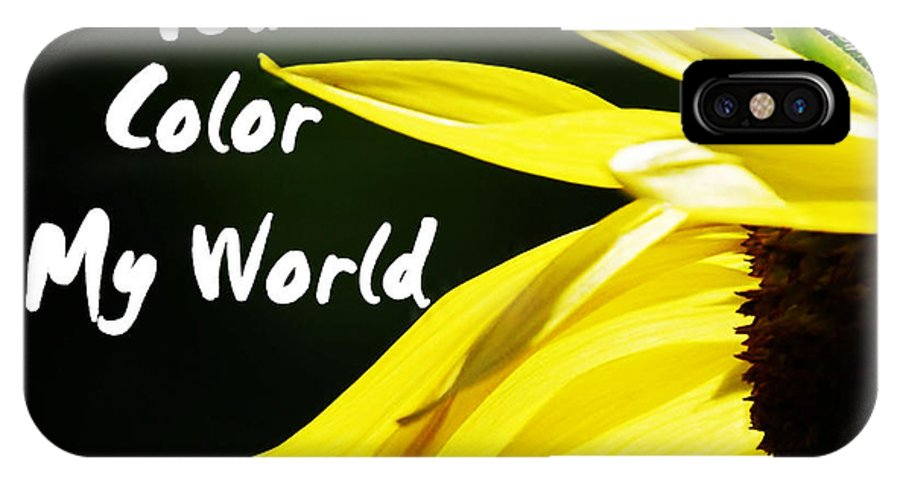 Card IPhone X Case featuring the photograph You Color My World by Judy Hall-Folde