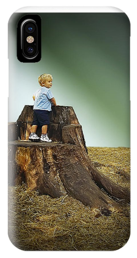 2d IPhone X Case featuring the photograph Young Boy by Brian Wallace