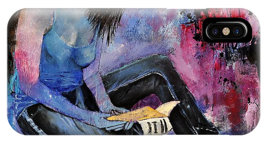 Figurative IPhone X Case featuring the painting Young Girl 662160 by Pol Ledent