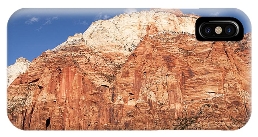 Zion National Park IPhone X Case featuring the photograph Zion Red Rock by Bob and Nancy Kendrick