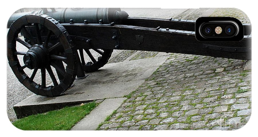 Canon IPhone X Case featuring the photograph Zurich Cannon by Pravine Chester