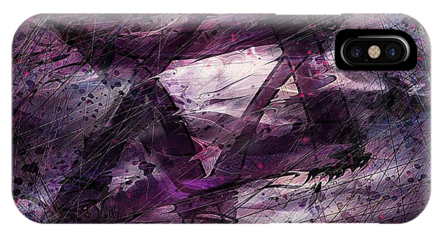 Abstract IPhone X Case featuring the digital art . . . When We Remembered Zion by Rachel Christine Nowicki