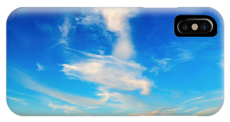 Angel IPhone X Case featuring the photograph Angel Walking On Air by Glenn Feron