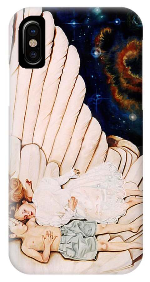 Be Still And Know That I Am God IPhone Case featuring the painting Be Still by Teresa Carter
