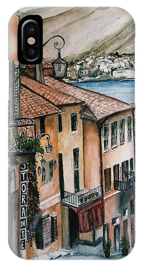 Italy IPhone X / XS Case featuring the painting Bellagio by Oksana Naichuk