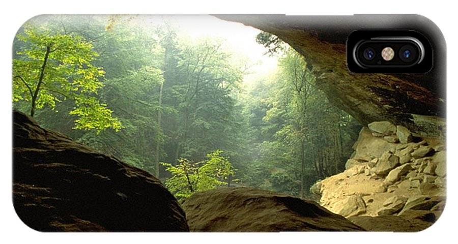 Forest IPhone Case featuring the photograph Cave Entrance In Ohio by Sven Brogren