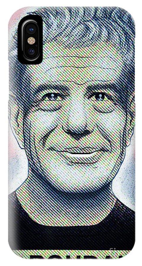 Anthonyboudain IPhone X Case featuring the digital art Commemoration Of Anthony Boudain by Don Nitram aka Martin G Macias