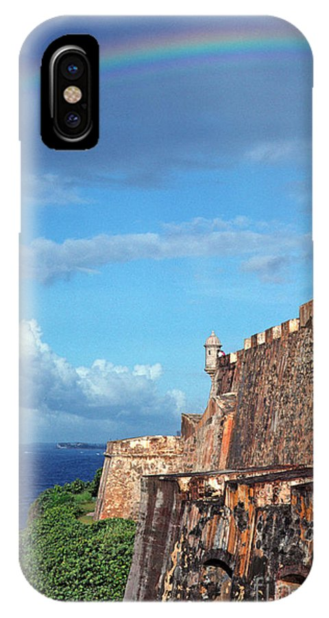 Puerto Rico IPhone X Case featuring the photograph El Morro Fortress Rainbow by Thomas R Fletcher