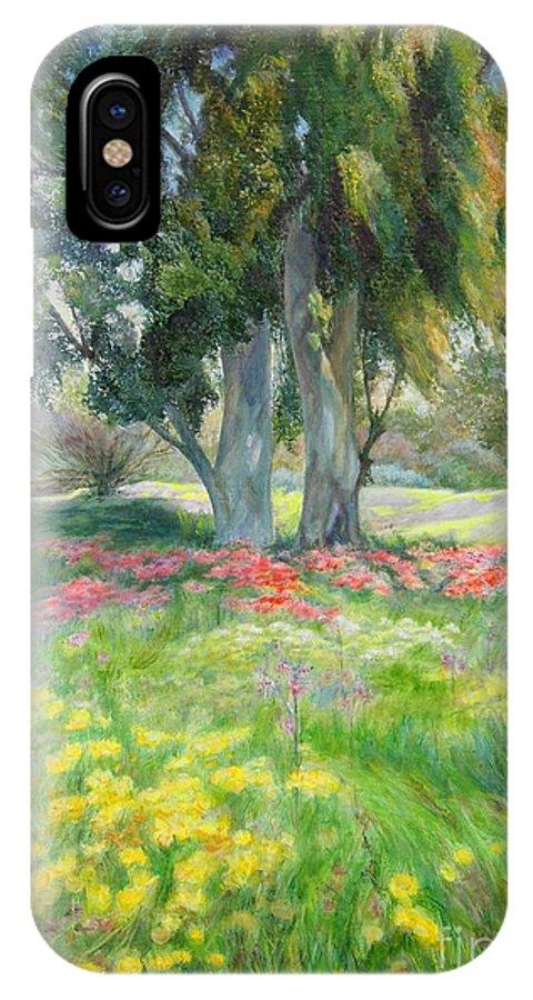 Artist Maya Bukhin IPhone X Case featuring the painting Eucalyptus by Maya Bukhina