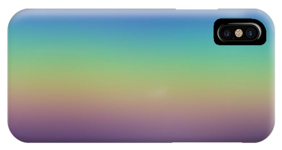 Evening.colors.silince.rest.sky.sea.clean Sky.violet.blue.yellow.rose.darkness. IPhone X Case featuring the digital art Evening by Dr Loifer Vladimir