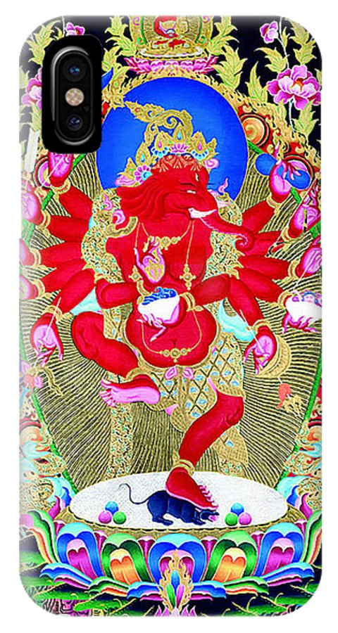 Rganesh IPhone X Case featuring the photograph Ganapati 8 by Jeelan Clark