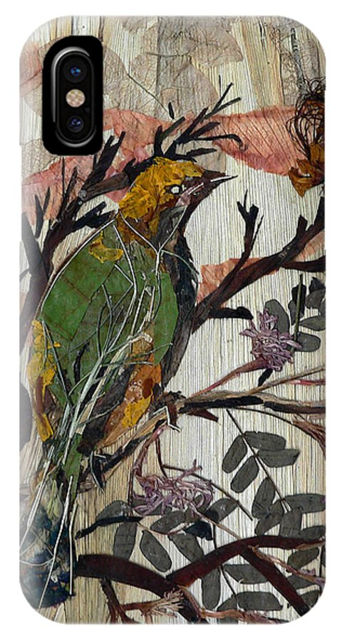 Green Bird IPhone Case featuring the mixed media Green-yellow Bird by Basant Soni