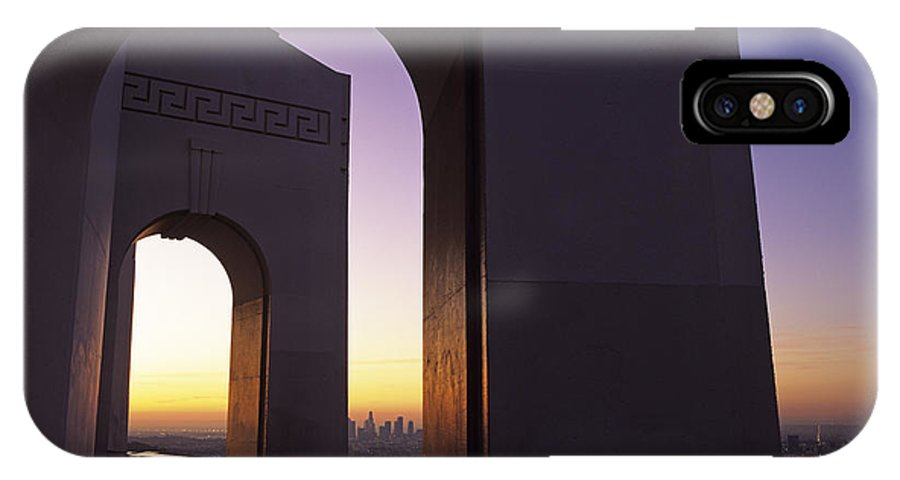 Travel IPhone X Case featuring the photograph Griffith Park Observatory by Jim Corwin