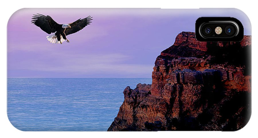 Eagle IPhone Case featuring the digital art I'm Free To Fly by Evelyn Patrick