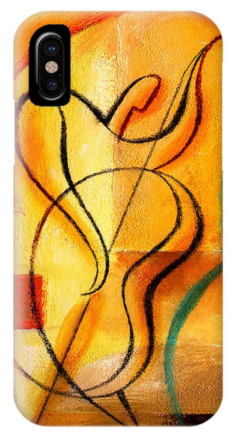 West Coast Jazz IPhone X Case featuring the painting Jazz Fusion by Leon Zernitsky