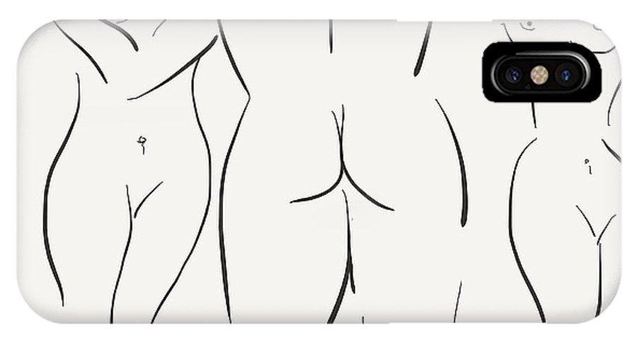 Feminine IPhone X / XS Case featuring the digital art Le Fe'minin Sacre' by Karl Reid