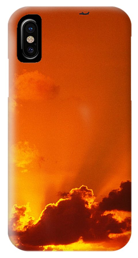 Airplane IPhone X Case featuring the photograph Let Your Dreams Take Flight by Carl Purcell