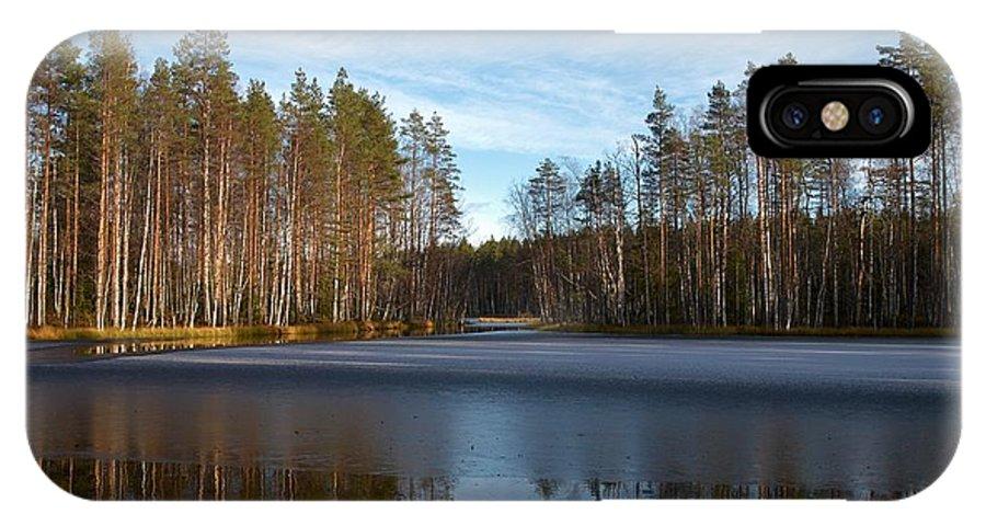 Lehtokukka IPhone X / XS Case featuring the photograph Liesilampi 5 by Jouko Lehto