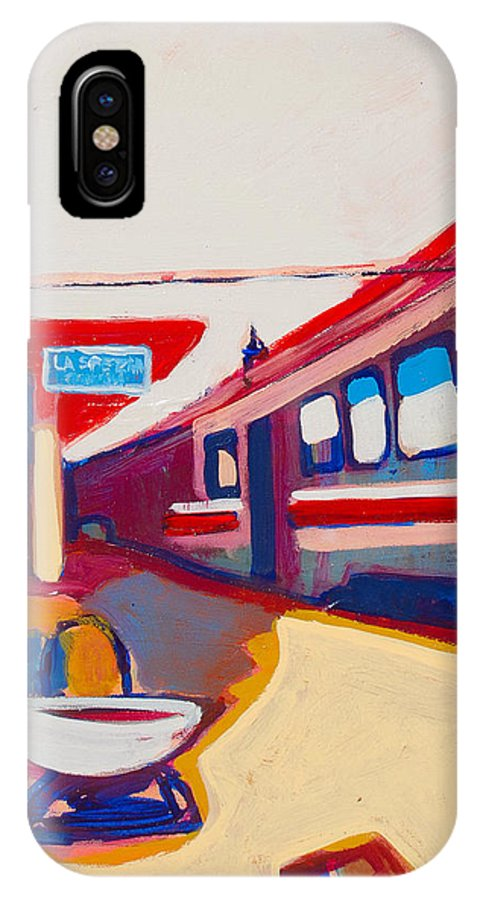 Train Station IPhone Case featuring the painting Locale by Kurt Hausmann