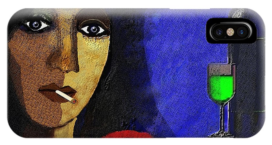 Woman IPhone X Case featuring the painting Marie In The Morning - 292 by Irmgard Schoendorf Welch