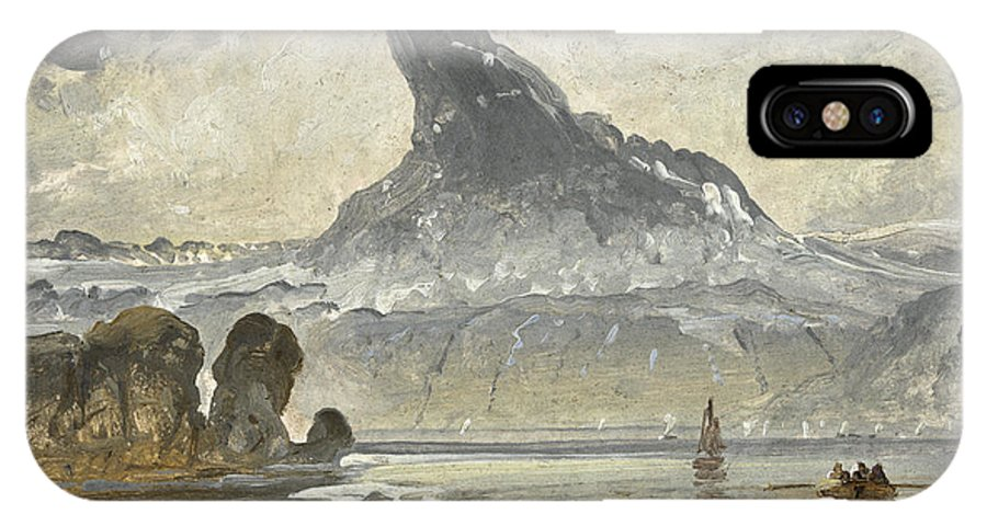 Peder Balke (hedemarken IPhone X Case featuring the painting Mount Stetind by Celestial Images