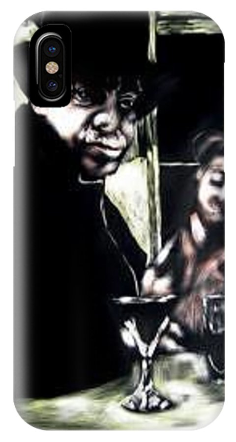 Commentary IPhone X Case featuring the mixed media My Old New Orleans by Chester Elmore