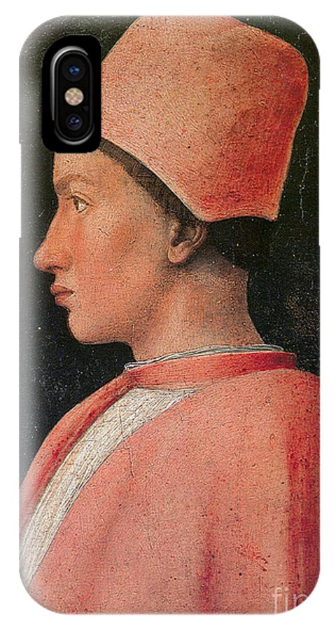 Andrea Mantegna IPhone X Case featuring the painting Portrait Of A Young Man by Celestial Images
