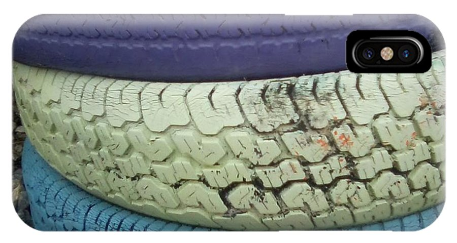 Tire IPhone X / XS Case featuring the photograph Seventies Tires by Joseph Baril