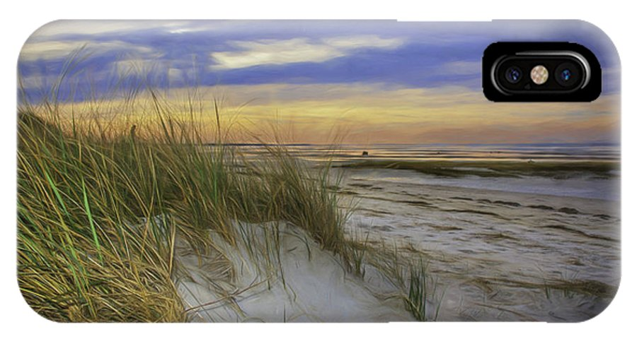 Coastal Scene IPhone X Case featuring the photograph Sunset Beach Dunes by Mary Clough