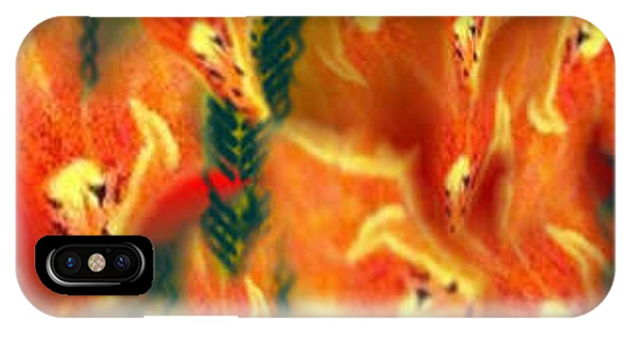 Florals IPhone X Case featuring the digital art Symphonic Dance by Brenda L Spencer