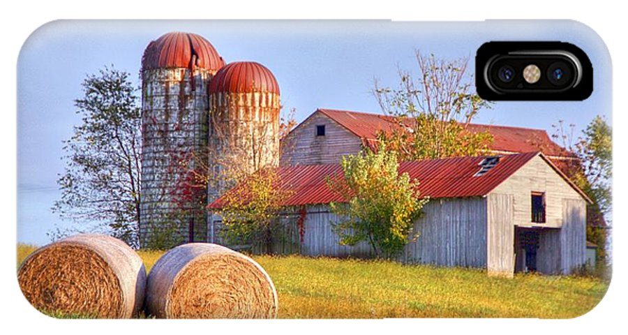 Barn IPhone X / XS Case featuring the photograph Two by Mitch Cat