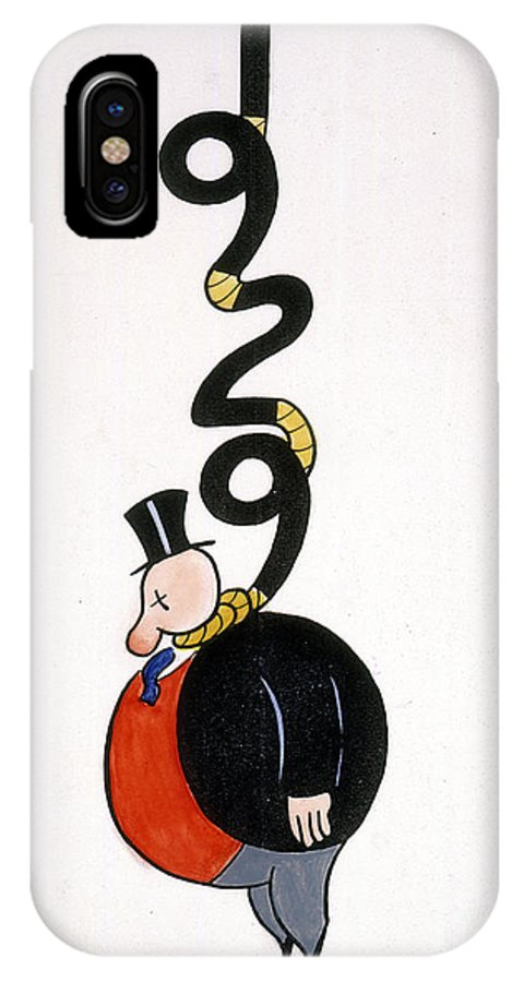1929 IPhone X Case featuring the painting Depression Cartoon by Granger
