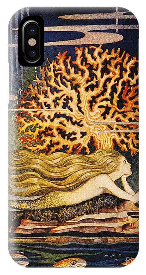 1932 IPhone X Case featuring the painting Andersen: Little Mermaid by Granger