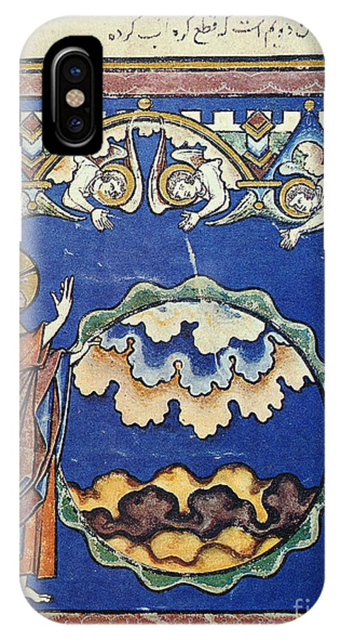 1250s IPhone X Case featuring the painting Day Two Of Creation by Granger