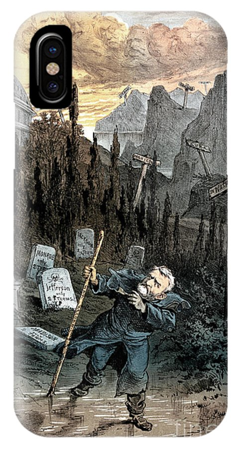 1880 IPhone X Case featuring the painting Grant Cartoon, 1880 by Granger
