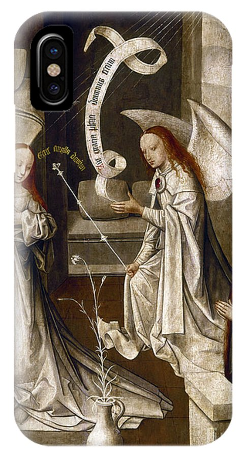 1470 IPhone X Case featuring the painting Spain: Annunciation, C1500 by Granger