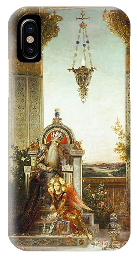 19th Century IPhone X Case featuring the painting Moreau: King David by Granger