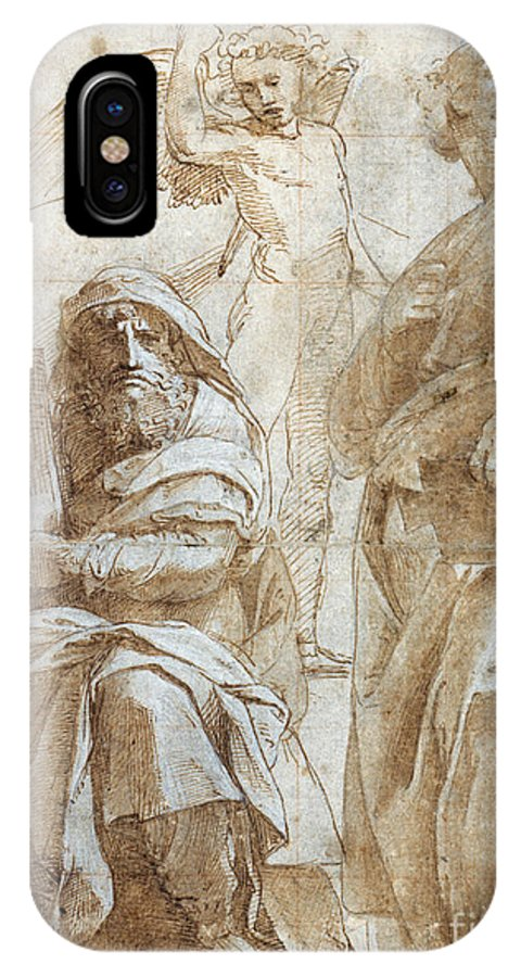 1510 IPhone X Case featuring the painting Raphael: Study, C1510 by Granger