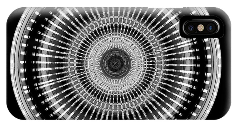 B&w IPhone X / XS Case featuring the photograph #011020156 by Visual Artist Frank Bonilla