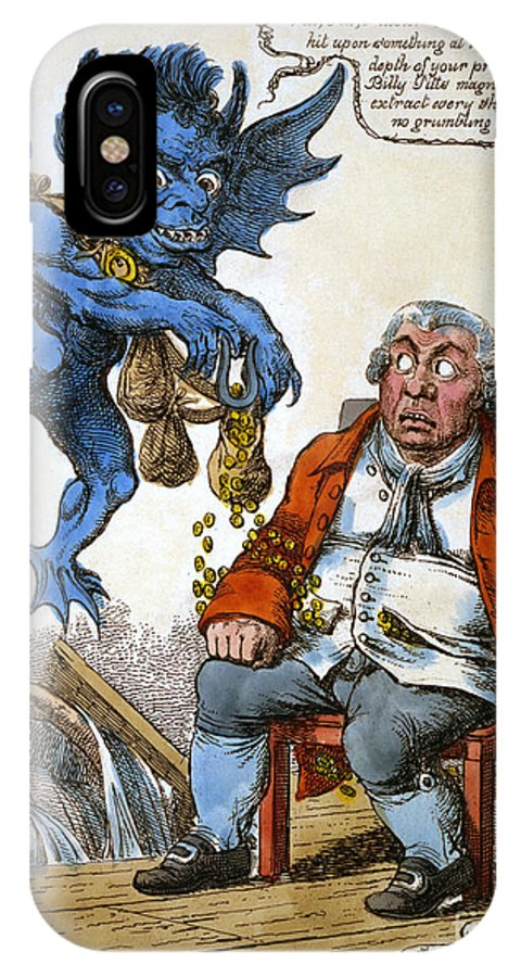 1814 IPhone X Case featuring the painting Cartoon: John Bull, C1814 by Granger