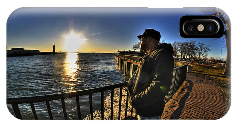 Buffalo IPhone X Case featuring the photograph 02 Me Sunset 16mar16 by Michael Frank Jr