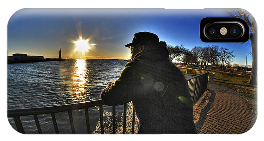 Buffalo IPhone X Case featuring the photograph 03 Me Sunset 16mar16 by Michael Frank Jr