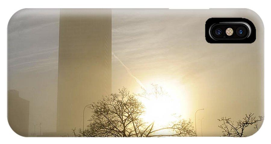 Buffalo IPhone X Case featuring the photograph 05 Foggy Sunday Sunrise by Michael Frank Jr