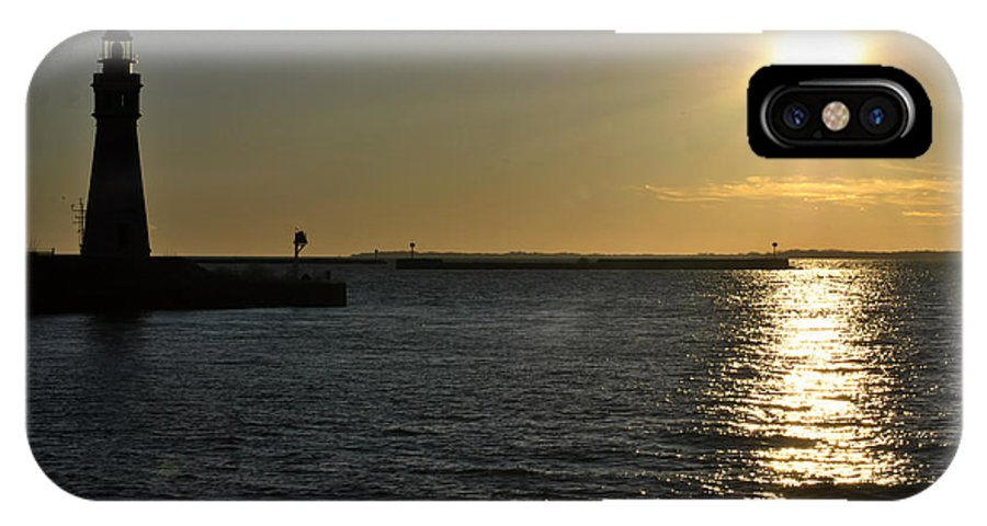 Buffalo IPhone X Case featuring the photograph 05 Sunset 16mar16 by Michael Frank Jr