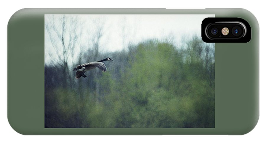 Canada Goose IPhone X Case featuring the photograph 070406-40 by Mike Davis