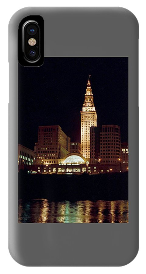 Cleveland IPhone X Case featuring the photograph 070506-73 by Mike Davis