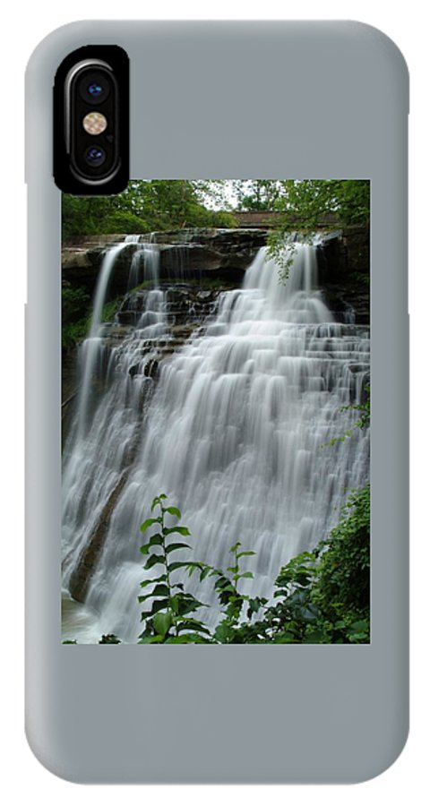 Waterfall IPhone X Case featuring the photograph 071809-314 by Mike Davis