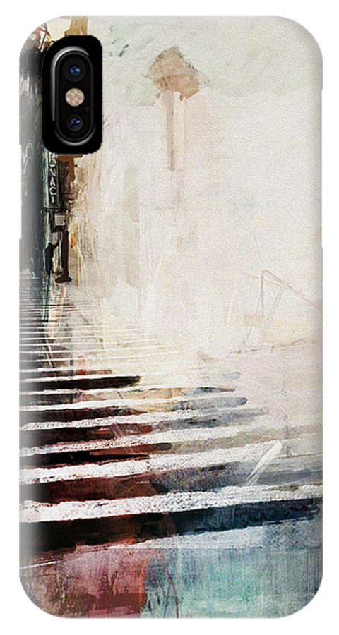 30th Street IPhone X Case featuring the painting 084 30th Street B by Mahnoor Shah